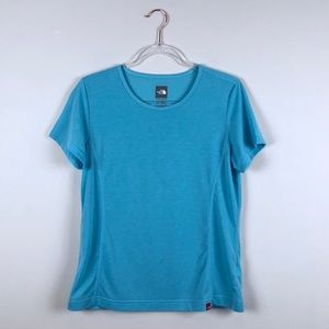 North Face Blue Short Sleeve Tee Shirt Large Lrg